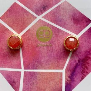 Gorjana Pink Jade Power For Dream Stud Earrings